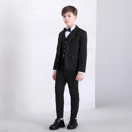 New Striped 4 Pcs 2-Button Boys' Suit (T16014)