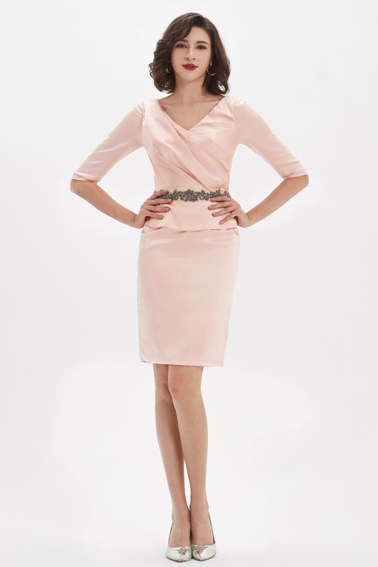 eDressit Pink One-Piece Design Party Fashion Dress/Daydress (03210501)