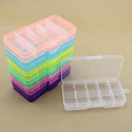10 Grids Detachable Plastic Box Jewelry Storage Box (TB0002)