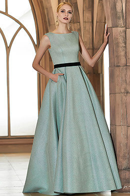 eDressit Green Sleeveless Shiny Elegant Long Party Ball Evening Dress (02201804)