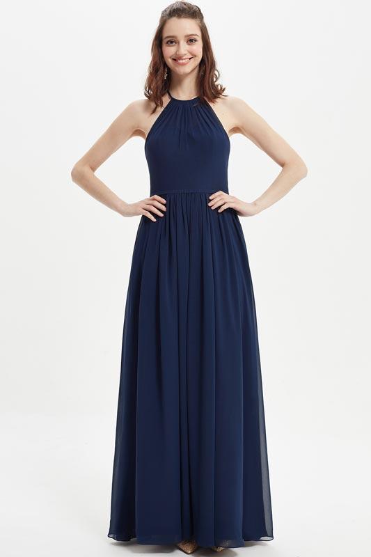 eDressit Sexy Blue Halter Open Back Wedding Bridesmaid Dress (07215705)
