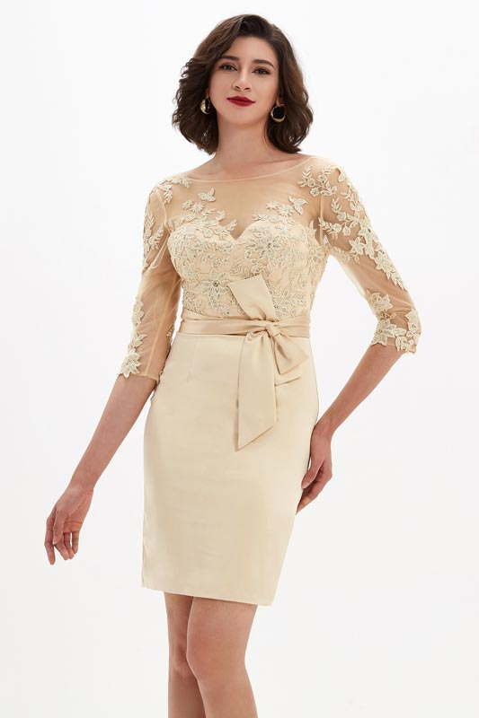 eDressit Illusion Neckline Embroidery Mother of Bride Dress (26210914)