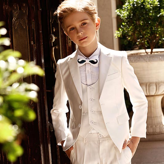 High Quality 5-Piece Classic Special Occasion Boys' Suit (T16015)