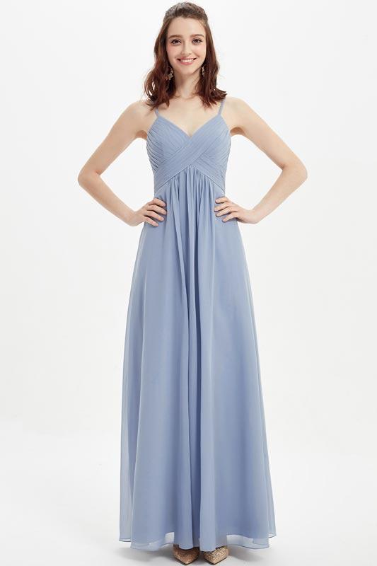 eDressit Spaghetti Straps V-Cut Long Bridesmaid Party Dress (07216832)