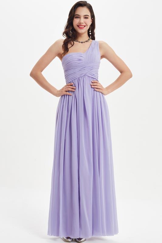 eDressit One Shoulder Lila Empire Long Bridesmaid Dress (07210606)