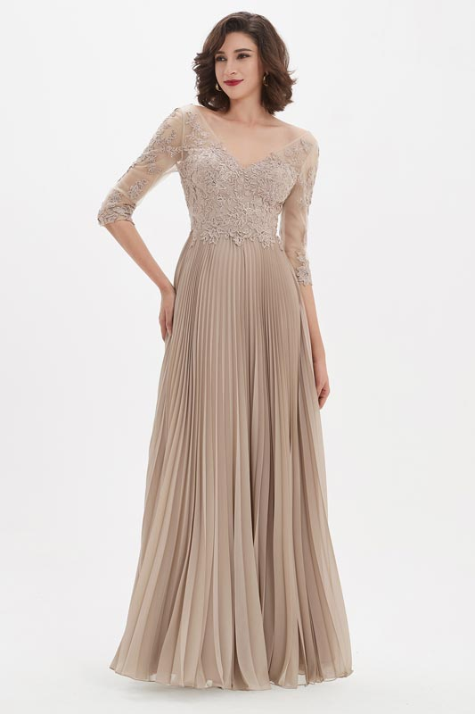 eDressit V Neck Sleeves Embroidery Dress Prom Gown (26210946)