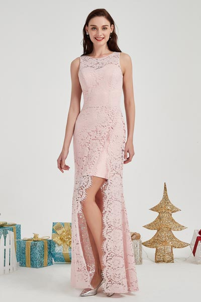 eDressit Pink Lace Applique Sweethear Bodice Party Evening Dress (02203601)
