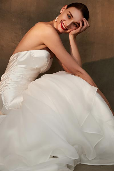 White Wedding Party Dress with Sweethear Corset  Bridal Dress-eDressit (01200407)