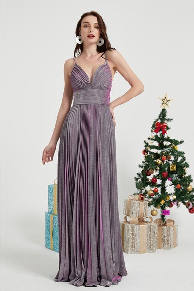 eDressit Purple Spaghetti Sparkle Party Prom Ball Dress (00202706)