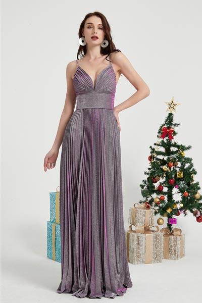 eDressit Purple Spaghetti Sparkle Party Prom Ball Dress (00202706)