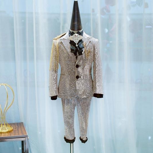 Boys Colorful Formal Suits 4 Piece Slim Fit Suit Set (T16001)