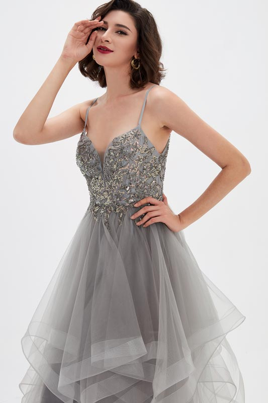 eDressit Spaghetti V-Cut Sequins Bodice Tulle Prom Gown (02210808)
