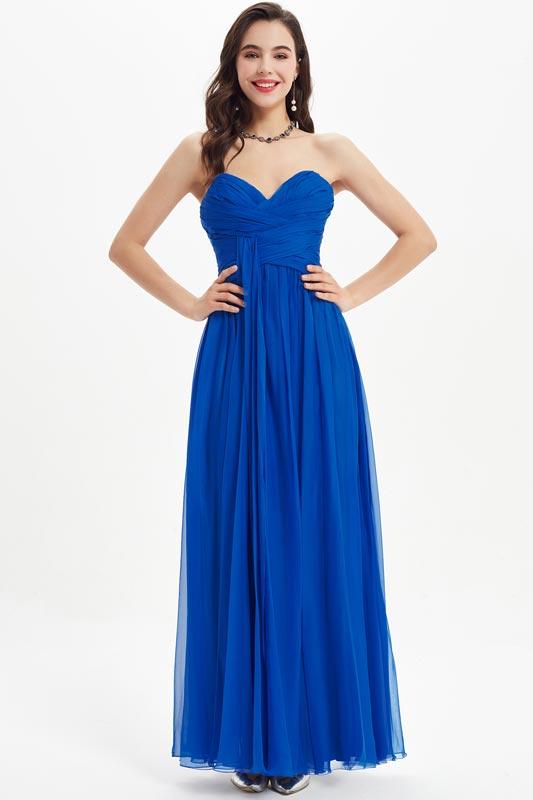 eDressit Blue Strapless Sweetheart Wedding Bridesmaid Dress (07210805)