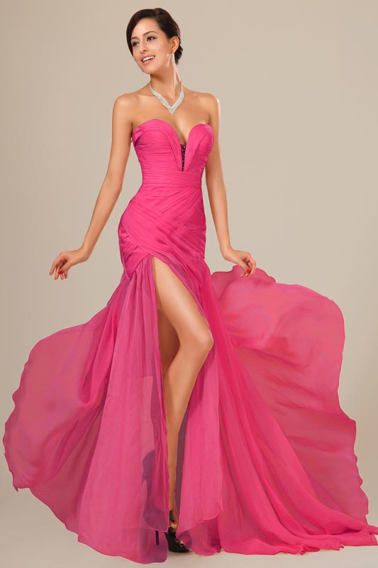 eDressit Blush Chiffon Ruched bodice Evening Dress (00120512a)