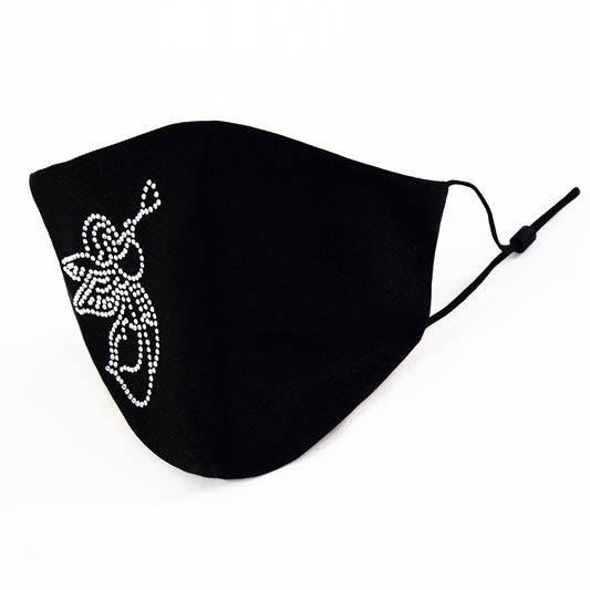 Black Fashion Washable Reusable Protective Face Mask (Mask026)