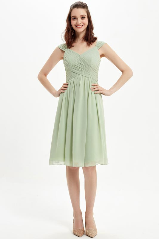 eDressit Green V-Cut Straps Short Party Cocktail Bridesmaid Dress (07216304)