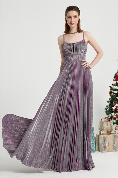 eDressit Purple Spaghetti Sparkle Elegant Party Prom Dress (00202806)