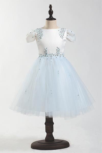 eDressit Beadings Cap Sleeves Children Wedding Flower Girl Dress (28205805)