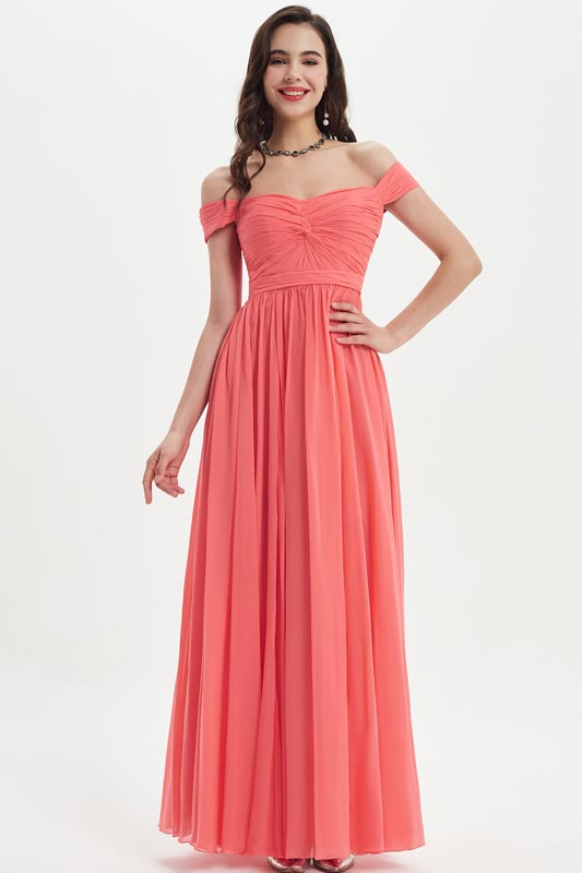 eDressit Elegant Off Shoulder Coral Wedding Bridesmaid Dress (07210557)