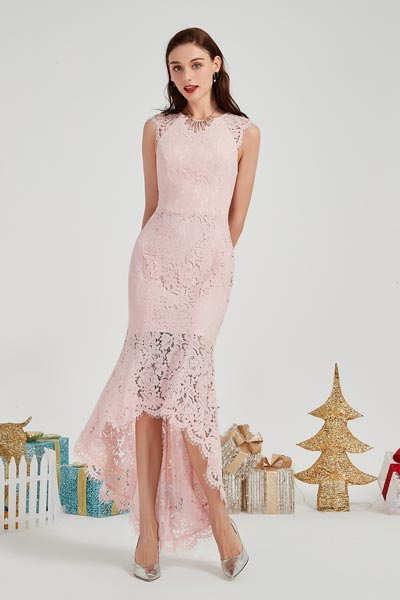 eDressit New Pink Lace Applique Sleeveless Ball Evening Dress (04200901)