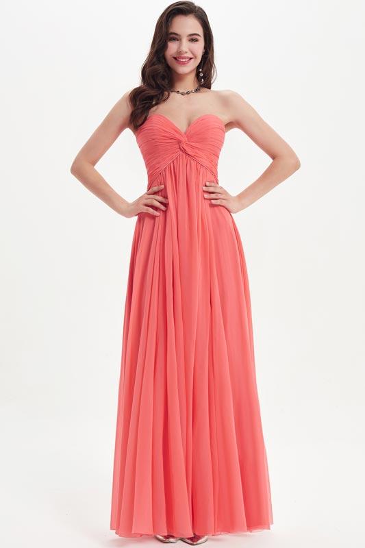 eDressit Coral Chiffon Sweetheart Party  Bridesmaid Dress (07210457)