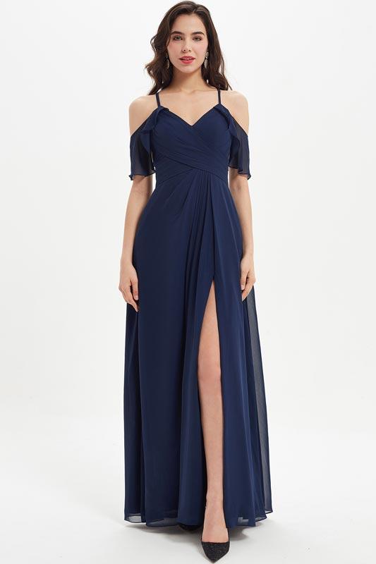 eDressit Spaghetti V-Cut Off Shoulder Party Bridesmaid Dress (07214305)