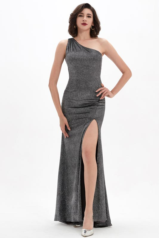 eDressit Sexy Shiny Sequins One Shoulder High Slit Evening Dress (00210908)