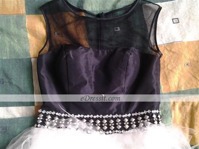 46ed7333dc eDressit Sheer Top Black   White Cocktail Dress (04141007)
