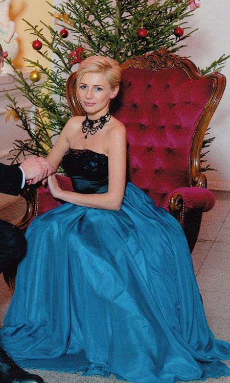 Custom Strapless Blue Long Prom Dress