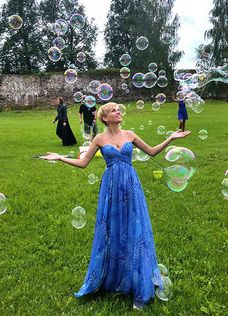 Strapless A-line Blue Prom Dress Long
