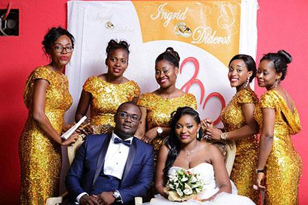 Golden Long Bridesmaid Dress Wedding Prom Dress