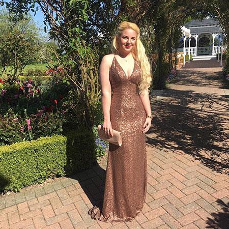 Sleeveless Plunging Neck Sequin Formal Dress Evening Dress