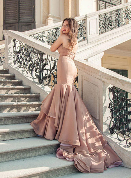 Strapless Sweetheart Mermaid/Trumpet Evening Dress