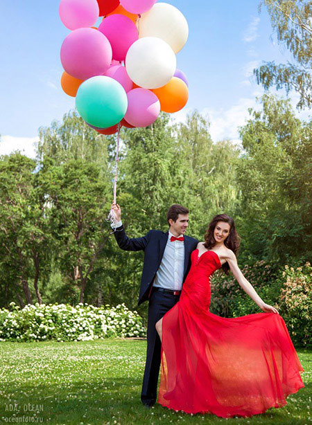 Strapless Red Prom Dress Long