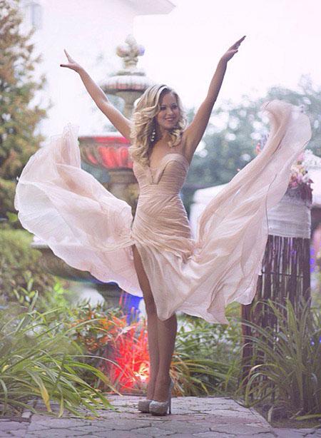 Chiffon Ruched Bodice Evening Dress Beige