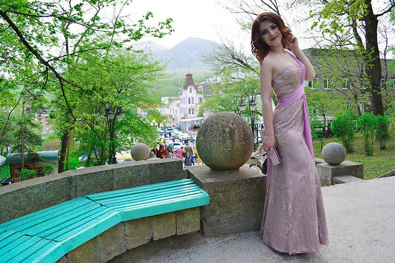 eDressit Purple Prom Dresses Printed Dress