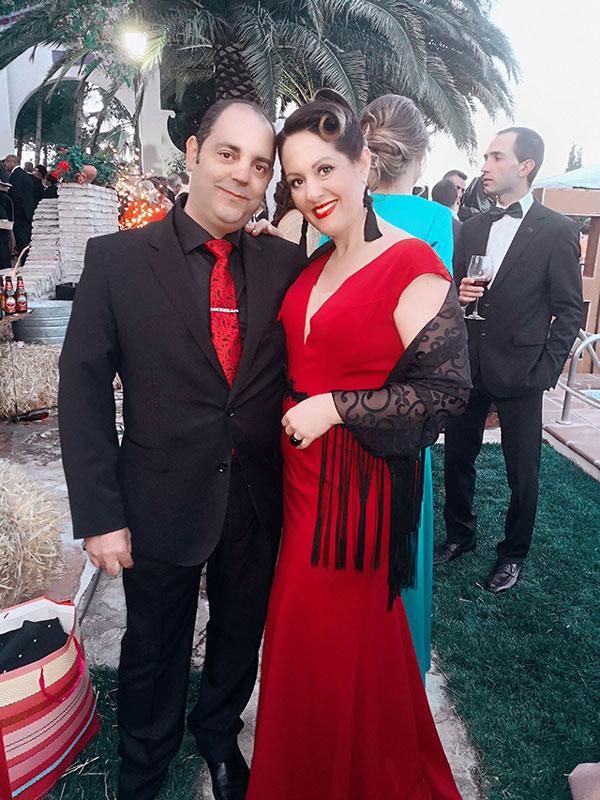 Formal Vestido de Fiesta Rojo Corte Profundo Sexy Diseño