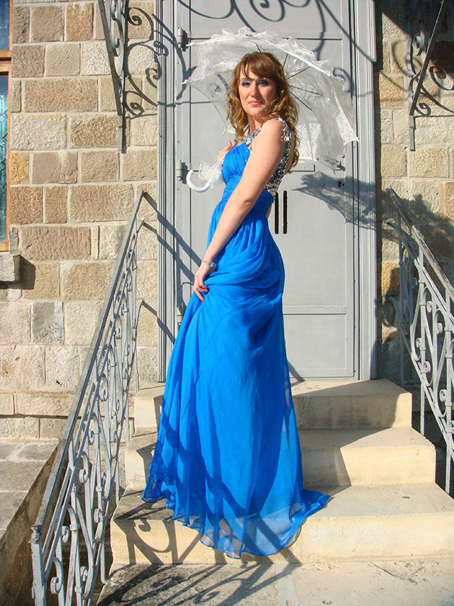 Blue Prom Dress Fashion Dress