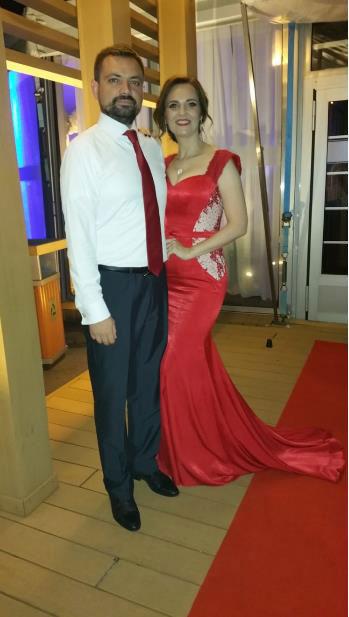 Red Prom Dress, Mermaid Formal Dress