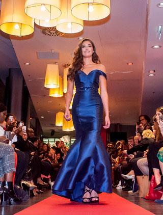 Off the Shoulder Blue Mermaid Prom Dress Red Carpet Dress