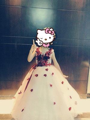 Sleeveless Burgundy Flower Girl Dress
