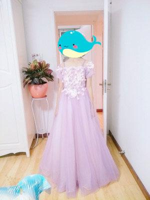 Lavender Flower Girl Dress, Princess Dress