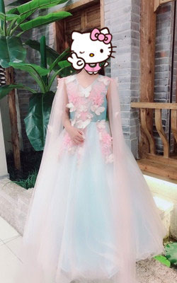 Fashion 2019 Flower Girl Dress, Cute Girl Dress for Wedding