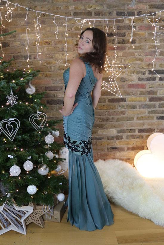 Fashion Prom Dress, Blue Christmas Prom Wear