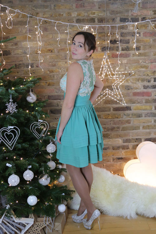 Turquoise Cocktail Dress for Christmas and Prom Party