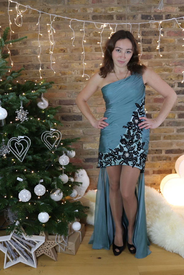 Lovely High Low Christmas Evening Dress
