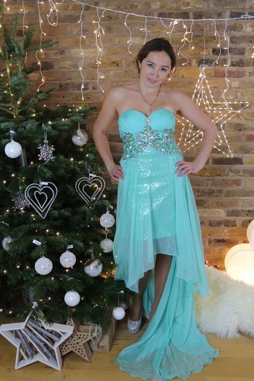 Strapless Green Bridesmaid Dress Prom Dress