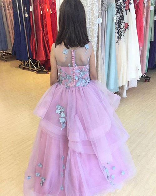 Lavender Girl's Prom Dress, Lovely Flower Girl Dress