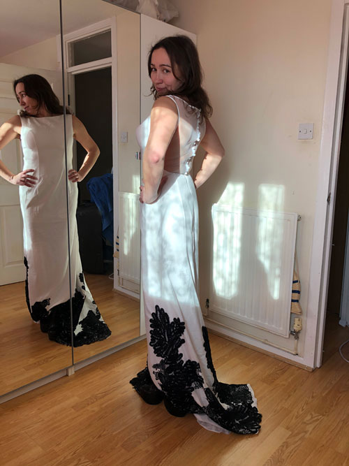 Long White Prom Dress, Wedding Dress for Party