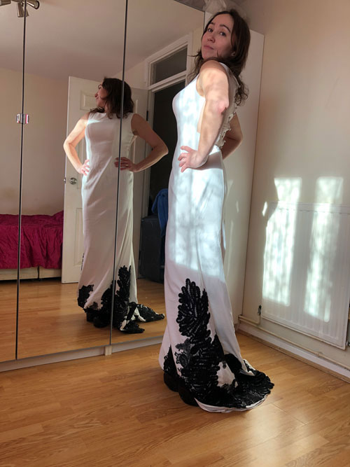 Sleeveless wedding Dress, White Prom Wedding Gown